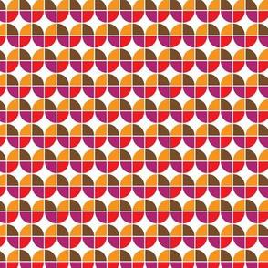 Retro seventies orange mod mid century design