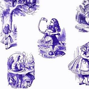 Alice in Wonderland collage purple
