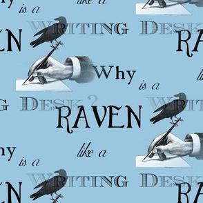 Raven Writing Desk Blue Alice in Wonderland