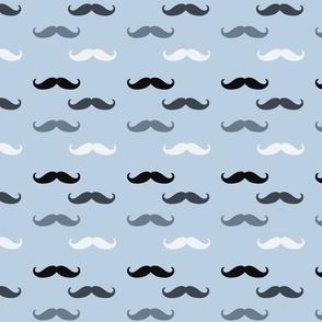 Blue Mustaches