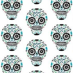 Sugar Skulls SF blue