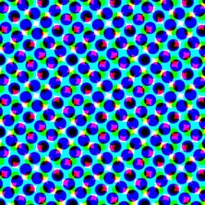 CMYK dots - steel blue