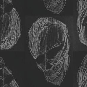 Chalkboard Skull Print