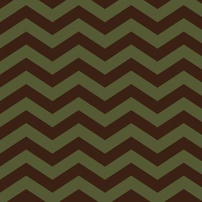 Chevron in Green and Brown