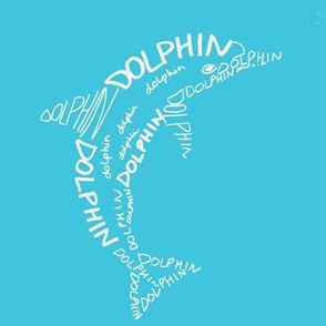 Dolphin Calligram