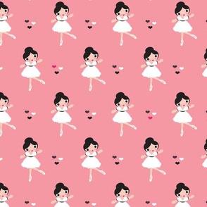 Pink ballet dancer girl ballerina
