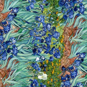 Van Gogh: Irises lengthwise repeat