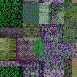 Bohemian Cheater Quilt (in Grass and Grape)