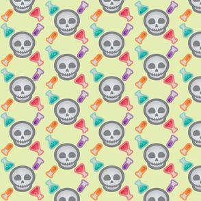 Halloween Retro-Pop Skulls and Potions