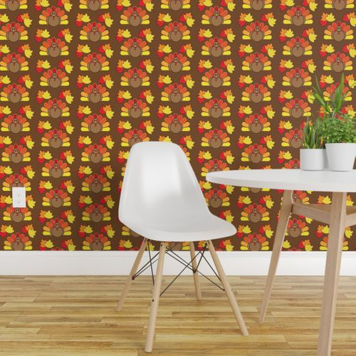 Fine Wallpaper Turkey And Leaves For Thanksgiving Gmtry Best Dining Table And Chair Ideas Images Gmtryco