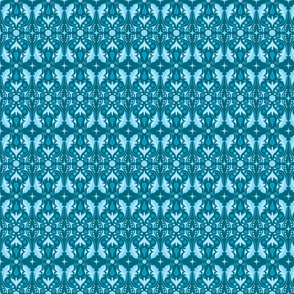 Abstract Leaves - Blue