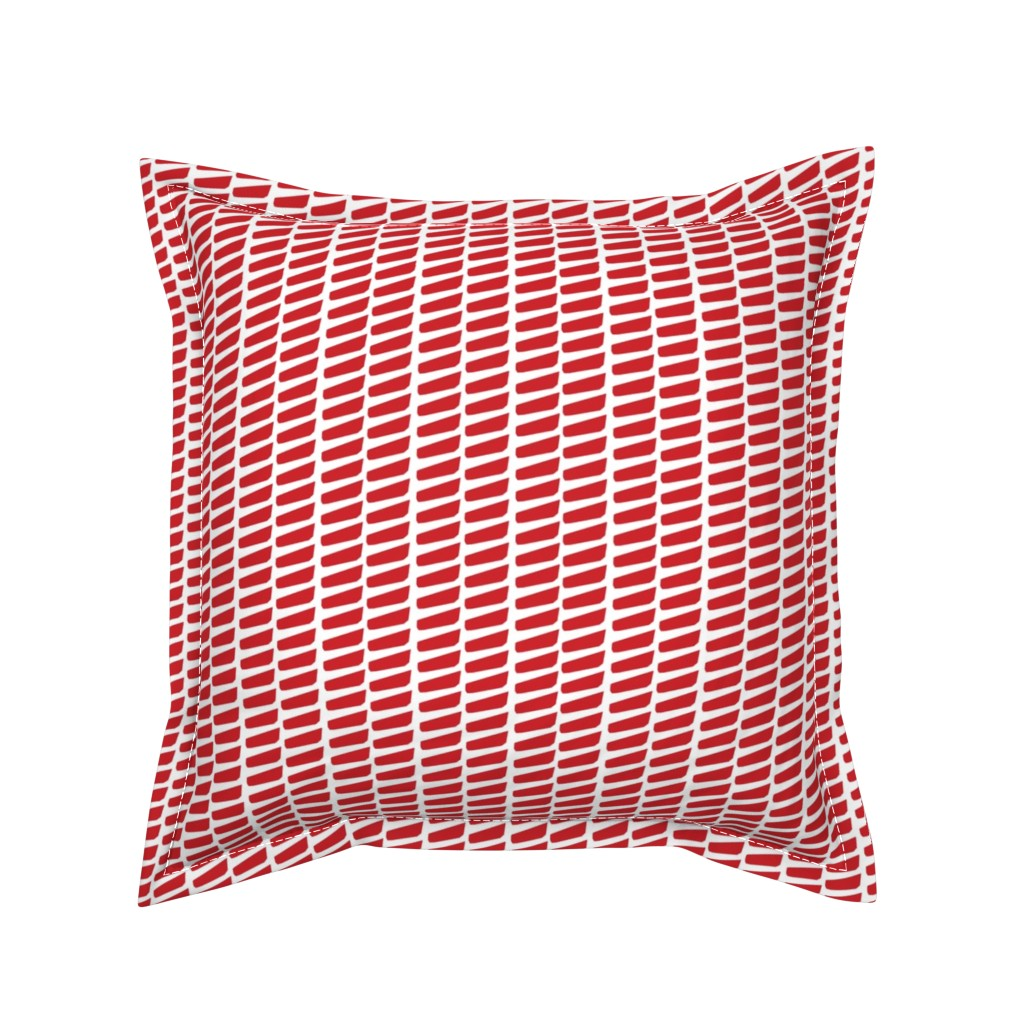 Serama Throw Pillow featuring Coordinate_Red by kimnyc