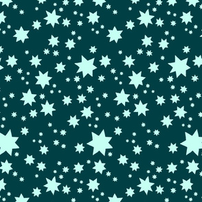 Stars Teal and Frost