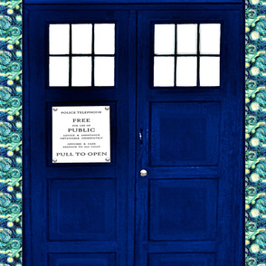 Huge Police Box Door for Curtain, Wall Hanging, or Sheet