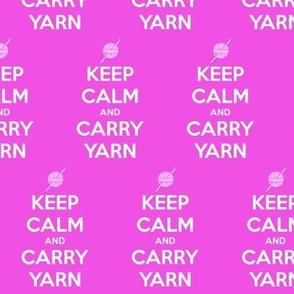 Keep Calm Carry Yarn Crochet - solid
