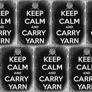 Keep Calm Carry Yarn Knitting - large solid tin
