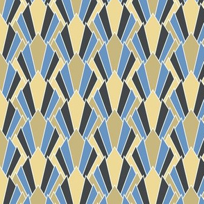Tan + blue art deco diamonds by Su_G_©SuSchaefer (now smaller @ 350 ppi)