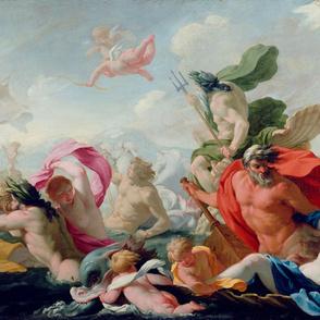 Marine Gods Paying Homage to Love  - Eustache Le Sueur (1638)