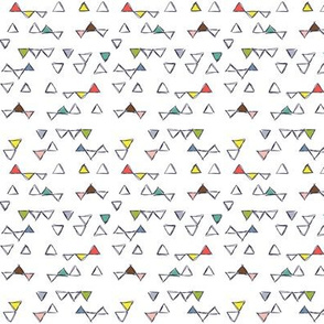 Befriended Triangles White