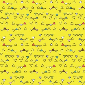 Befriended Triangles Yellow