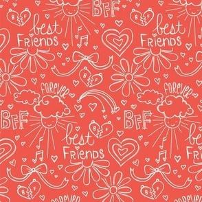 Befriended Doodles Red