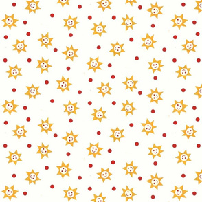 Smiling Sun with Red Dots