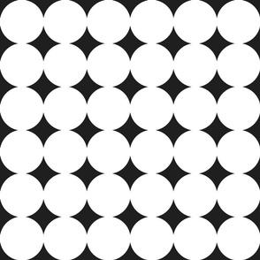 circles : white + black : large