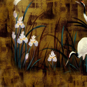 Orchids and cranes