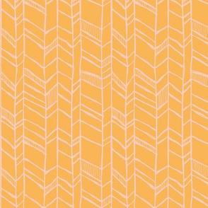 Befriended Herringbone Orange