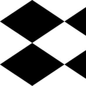 Extra Large Harlequin Check in Black and White
