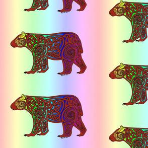 rainbow celtic bear 2