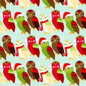 How Now Holiday Owls in a Row