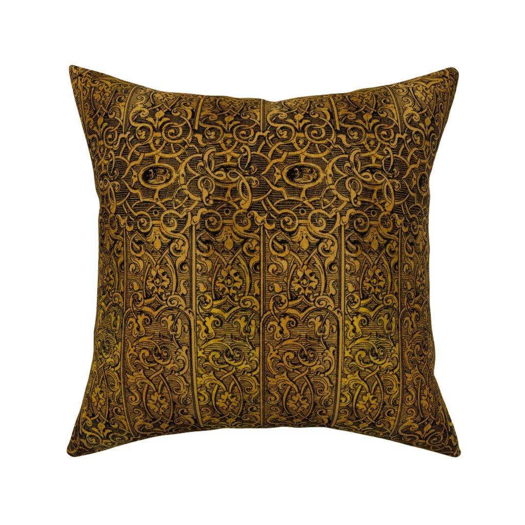 Catalan Throw Pillow featuring Dangerous Liaisons ~ Gilt Cage by peacoquettedesigns