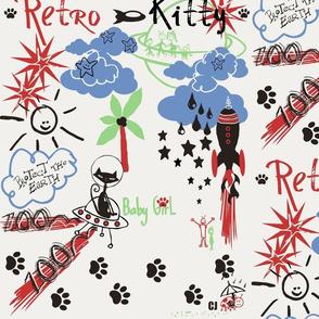 Retro Kitty / kitty meets martians