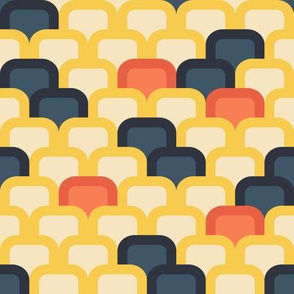 yellow red blue pattern
