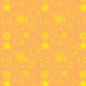 Be a Star  yellow on orange