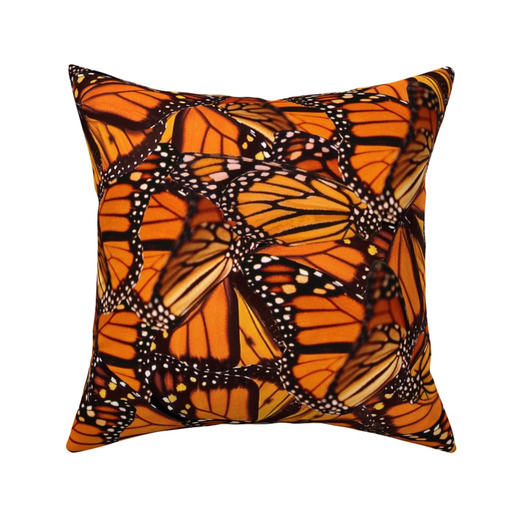 Catalan Throw Pillow featuring Monarch Butterfly by jenfur
