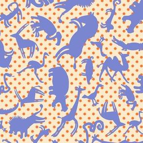 Mousehaus Zoo Periwinkle Polka Dot