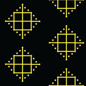 yellow_black_cards_circles_fabric_design