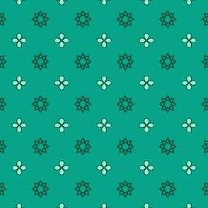 Starry Petals - Mint Green