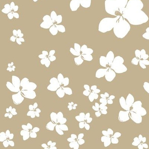 Magnolia Little Gem - Creme Caramel - 1 yard panel