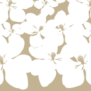 Magnolia Little Gem - Creme Caramel - 2 Yard Panel