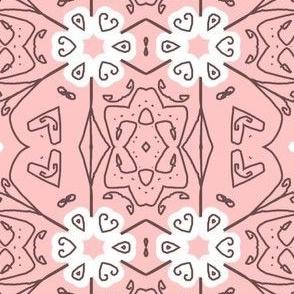Pink Scroll Stripes