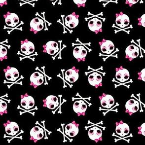 Velusa Skullie with Pink Bows