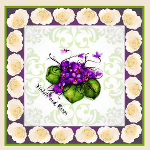 """18"""" Violets and Roses"""