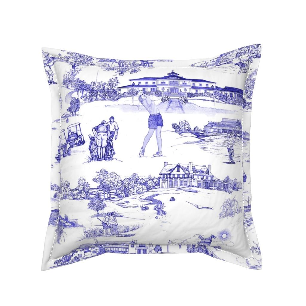 Serama Throw Pillow featuring Hamptons Golf- Original by mcsparrandesign