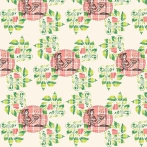Strawberry Rhubarb Plaid Pie