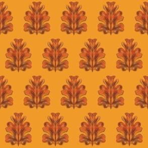 Autumn Oak Leaf Abstract