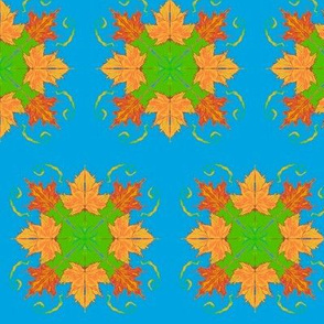 Autumn Maple Leaves Abstract