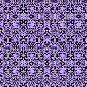 Purple Black Swirl Batik